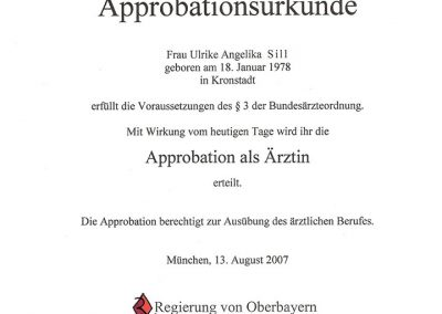 Approbationsurkunde-Sill